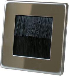 Varilight Screwless Brush Plate in Polished Chrome with: Amazon.co.uk: Electronics