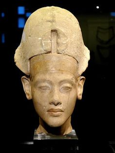 Amenophis (Amenhotep) IV: Akhenaten.  Here is a look at  Akhenaton which represents him at a much younger age than we usually see him - possibly as a child shortly before teen years.