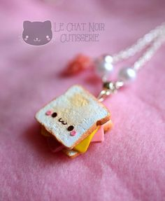 #kawaii #charms #polymer #clay #toast