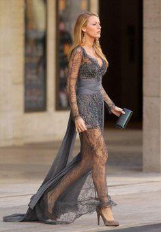 Blake. love this #lace #gray dress