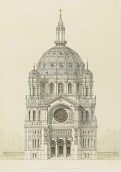 Architectural Drawings, Models, Photos, etc... — irakalan:   CHURCH OF SAINT AUGUSTIN, PARIS...