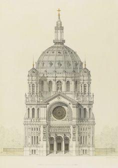 Architectural Drawings, Models, Photos, etc... — irakalan:   CHURCH OF SAINT AUGUSTIN, PARIS...