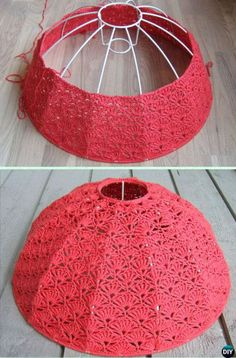 Crochet Tutorial Design LampshadeThis crochet tutorial / tutorial is available for free. Full Post: Lampshade - LampshadeThis crochet tutorial / tutorial is available for free. Crochet Chart, Crochet Motif, Knit Crochet, Crochet Patterns, Filet Crochet, Lampe Crochet, Crochet Lampshade, Knitting Room, Handmade Lamps