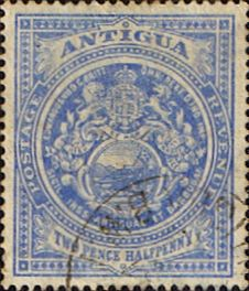 Antigua Stamps 1908 Coat of Arms SG 46 Scott 34 Fine Used Other Antigua Stamps HERE