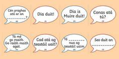 The Clothes Shop Conversation Prompts Gaeilge