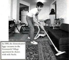 Iggy Pop vacuuming