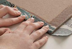 Aprenda a fazer seu próprio painel de tecido. Fotos publicadas na revista MINHA CASA.