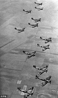 RAF Supermarine Spitfire Squadron - The defenders in the Battle of Britain.