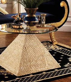 Https Www Atgstores Com Coffee Tables Design Toscano Ky4022 Great Egyptian Pyramid Of Giza Sculptural Glass Topped Table G990997 Html Pinterest