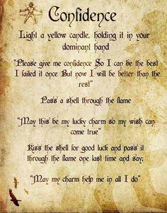 Magick Spells:  Confidence #Spell.