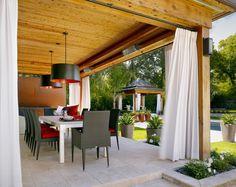 terrazas decoradas con cortinas