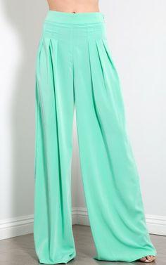 Mint Pastel Wide Leg Trouser Palazzo Pants Style #: 166354 $37.00