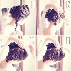 Perfect Heatless Curls with a French Twist [Steps of - offbeat + inspired Curly Hair Overnight, Overnight Curls, Bohemian Hairstyles, Fancy Hairstyles, Wedding Hairstyles, Heartless Curls, Heatless Hairstyles, Updo Hairstyle, Curly Hair Styles
