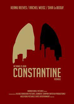 Constantine (2005) ~ Minimal Movie Poster by Jan Wurtmann #amusementphile