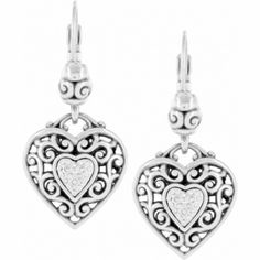 Reno Heart Leverback Earrings  available at #Brighton....if I weren't on a budget these beauties would be MINE.