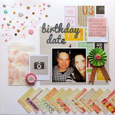 Designed by Rachel Anderson using product from the Scrap Again March Kit - (American Craft -Dear Lizzy)