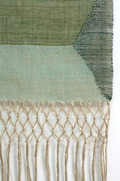 linen, hand woven - wallhanging    #weaving, #fiber, #textile