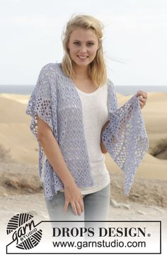"Crochet DROPS shawl with fans in ""BabyAlpaca Silk"". ~ DROPS Design, free : thanks so xox"
