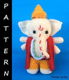 PDF Pattern Amigurumi: Ganesha by PhilaeArtes on Etsy - patron ganesh god hindu buddhism buddhist elephant