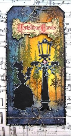 Christmas Carolers Tag - FRIENDS in ART
