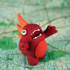 Polymer clay monster