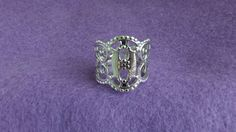 Sarah Coventry Queen's Lace Adjustable Ring 5736 by MarySBasket