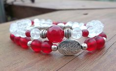 Red and White Stacked Bracelet Tree by BlueStoneRiver, $28.00