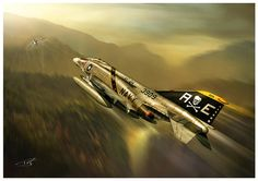 Mcdonnell-douglas F-4b Phantom Ii United States Navy Vf-84 Jolly Rogers Vietnam Poster featuring the digital art And Kill Migs by Peter Van Stigt