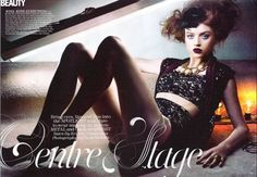 """Flare, December 2010. """"Centre Stage"""" Hair & Makeup: Tony Masciangelo"""