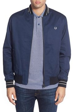 Fred Perry Twill Bomber Jacket available at #Nordstrom