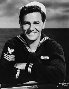 John Garfield assumes his role as United States Navy sailor Wolf from the World War II submarine adventure movie Destination Tokyo. Old Hollywood Movies, Hollywood Men, Hollywood Stars, Classic Hollywood, John Garfield, I See Stars, Two Movies, Classic Movies, Navy Sailor
