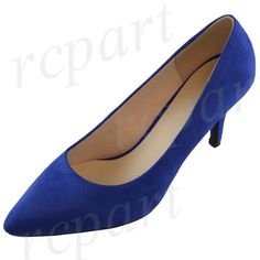 Women'S Shoes High Heel Pump Work Casual Winter Summer Solid Royal Blue