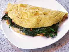 Recipe: Kale Raab & Shiitake Omelette | Raabs are usually one of the early signs of spring in the Produce aisle. Sautéed raab makes a delicious and hearty substitute for spinach in an omelette. | #recipe #spring #veggies #kale