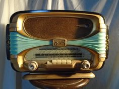 Stunning Vintage French Valve Radio 1950s Retro Prop Display,Fabulous #OCEANI