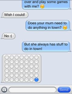 I have been sick for a couple of days now with some sort of virus and my girlfriend wanted to find a way to cheer me up so she started a game of connect four over text with emoji tiles... This later turned into an 8x8 game of checkers  Who would've thought aya? When they go to the trouble of thinking up such a random and weird idea just to make those days bearable you know she's the one ☺ #marryingher