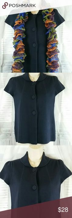 Ann Taylor LOFT Button Cardigan Navy blue Ann Taylor LOFT Button Cardigan, add your own scarf, style with skirt and heels and you're absolutely Fab, EUC Size XS Ann Taylor Sweaters Cardigans