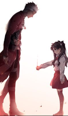 I thank you for showing me the way master Fate Zero, Fate Stay Night Rin, Fate Stay Night Series, Fan Art Anime, Anime Love, Fate Archer, Character Art, Character Design, Fate/stay Night