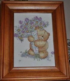 Forever Friends Bear ~ Friendly Bouquet, from Coats Crafts UK. We love this design stitched by Tracy ;)