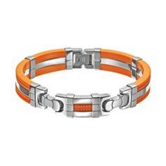 Stainless Steel & Rubber Bracelet - Men