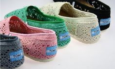 fresh and ready for your feet,TOMS shoes,god...SAVE 72% OFF! this is the best! | See more about crochet shoes, toms shoes outlet and toms outlet shoes.