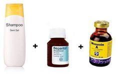 O shampoo bomba é uma mistura de vitaminas que serão colocadas no shampoo sem sal, uma dúvida muit...