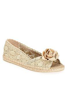 Plus Size Marissa Flower Espadrille   Plus Size Sandals   Avenue