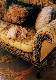 A lovely collection of antique needlepoint.  ~Splendor