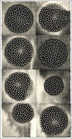 Eunice Kim ~ Tessellation (8) #4, 2009 (collagraph)
