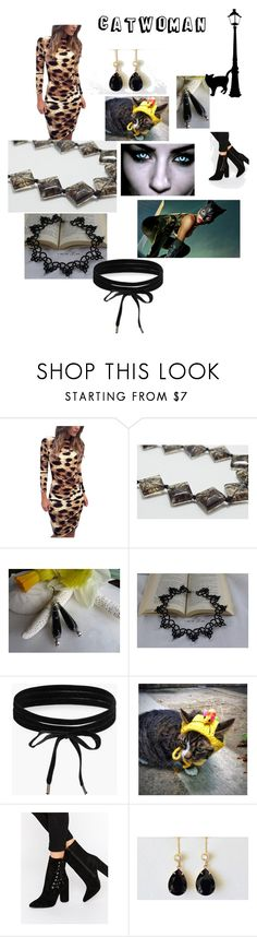 Catwoman by varivodamar on Polyvore featuring мода, Missguided, Cadeau, Boohoo and modern