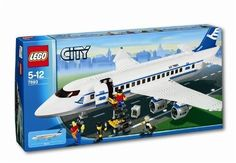 LEGO Town: City: Airport: Passenger Plane with Box/instructions. · Including Passenger Plane · Box and instructions are included. Lego Creator Sets, Lego City Police, Lego Design, Hunter X Hunter, Village Lego, Lego Airport, City Airport, Brand Stickers, Lego Boards
