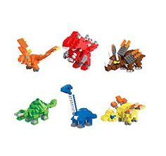 Dinosaurs Nanoblock Style Micro Building Blocks 6 Piece Set *** Offer can be found by clicking the image