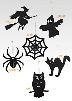 Halloween Silhouette Ornaments