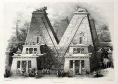 "V | ""alfabeto pittorico"" engraving series by Antonio Basoli (18th century)"