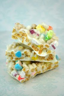 Lucky Charms Bark for St. Patrick's day!